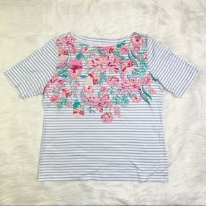 🌸 Floral Women's Croft&Barrow top Large